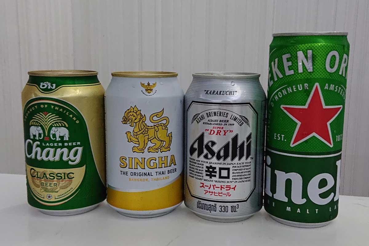 タイパタヤで日本のビール