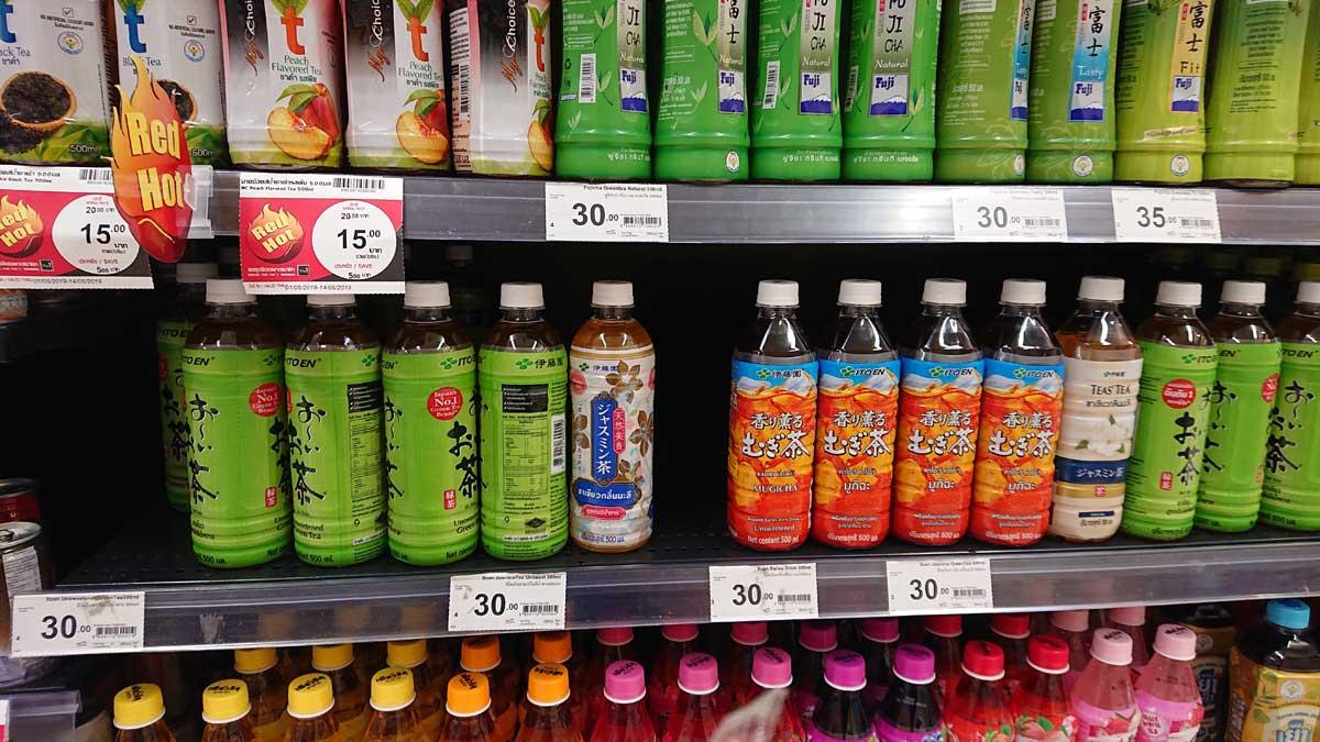 タイで日本のペットボトル